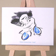Art Deco Yzma villain portrait WDCC  Emperor's New Groove drawing ACEO art card