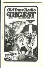 OLD TIME RADIO DIGEST #20, 1987, rare US digest mag  Suspense p2