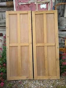 C45a (45 1/2 x 61 1/2) Pair of Old Victorian Cupboard Doors from U.K finest