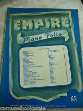 Empire Piano Folio Allan's Music Publishers Australia Vintage Sheet Music pb