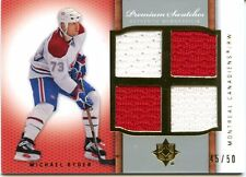2007-08 Ultimate Collection Michael Ryder Premium Swatches Quad 45/50 Devils
