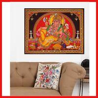 Hindu elephant god Ganesha wall hanging Ganesh sequin tapestry decor art India