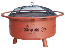 Versatile Wood Burning&Charcoal Fire Pit Patio Fireplace BBQ Oven Campfire Grill