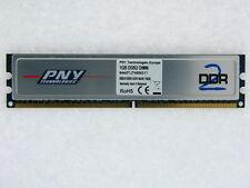 1GB PNY DDR2-800 RAM PC2-6400U CL5 64A0TJTHE8G17 Heatspreader Mem Module TESTED