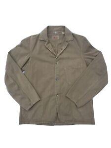 1920s Levis Vintage Clothing Sack Coat Chore Jacket Beige LVC Small