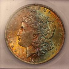 1884-O Morgan Silver Dollar *ICG MS64* Attractive Rainbow Toning