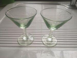 Vintage 2 x small Martini Margarita Glasses