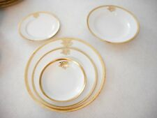 Antique GDA Limoges France GOLD TRIM 5 Piece Place Setting
