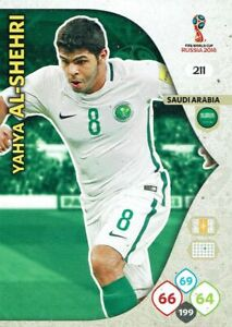 Panini Adrenalyn XL World Cup 2018 Russia No. 211 Yahya Al-Shehri