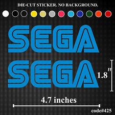 2x SEGA Vinyl Sticker Decal Funny JDM Game Console Logo Window Wall Bedroom Car