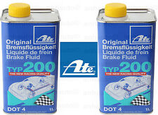 Set of 2 ATE DOT 4 TYP 200 –  Brake Fluid   (High Boiling Point)
