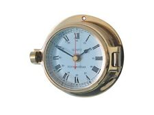 Ships Porthole Clock Brass Channel Range Quartz Movement - New N67