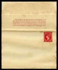 GRENADA ONE PENNY STATIONERY WRAPPER QUEEN VICTORIA UNUSED AS SHOWN