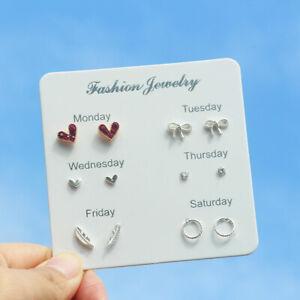 Women Cute Cartoon Earring Rhinestone Plastic Pearl  Stud Earrings Jewelry Gifts