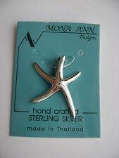 Sterling Silver Medium Starfish Pendant New
