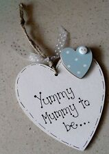 Día de las madres Hecho a Mano De Madera Colgante Corazón Regalo Para Mamá para ser (embarazadas)