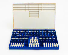 NEW POLYCARBONATE TEMPORARY DENTAL CROWNS BOX KIT 180 PCS W/ CROWN MOLD GUIDES