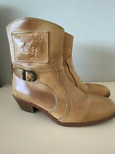 Ladies Wrangler Cowboy  Boots UK 7 Tan Leather