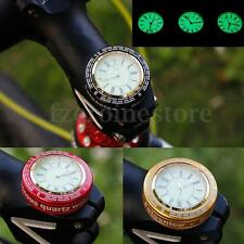 Alloy Quartz Clock Base Bicycle Headset Top Cap Stem Cover for MTB Road BMX Bike