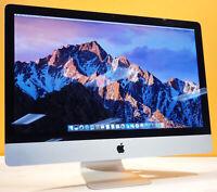 "Apple iMac 27"" - HUGE 2TB UPGRADED - 8GB RAM - mac OS X 2017 - WARRANTY"