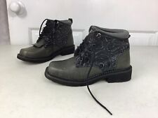 ROPER Leather Ankle Boots Embroidered Women's 6.5