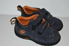 Merrell Sprint Jr Navy Gold Sneakers Infant Baby Leather Uppers US Size 8