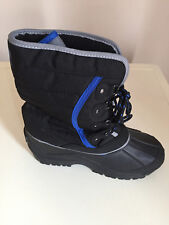 CAMPRI BLACK BLUE MEN /BOYS/GIRLS/MEN/WOMEN SNOW BOOTS SIZE 3 BRAND NEW