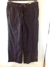 M&S Collection Wide Leg Pure Linen Trousers Size: 10 Short