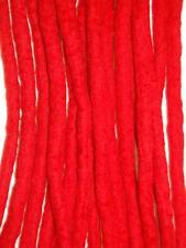 Red dreadlocks - 16 Handmade felted merino wool double ended dreads