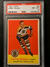 1957 Topps Hockey #6 Larry Regan PSA 8