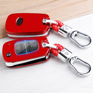 For Kia Optima Rio Soul Hyundai Elantra Key Case Key Fob Cover Shell Holder Bag