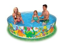 Intex Quick Snapset Pool 244 cm Ø Kinderpool  Badespaß Becken Planschen