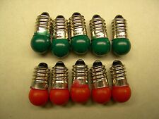 5 Red + 5 Green 18V Bulbs for American Flyer Accessories
