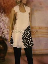 $2900 New MARC JACOBS Off White Silk Tunic Halter Black Lace Top Mini Dress 6