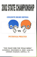 2002 Celeste vs Petrolia State Championship Program
