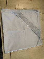 Petit Ami White Batiste Hooded Blanket with Embroidered Cross FREE GIFT WRAPPING