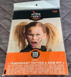 Hyde And Eek Boutique Halloween Temp Tattoo & Gem Kit