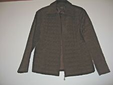 quilted jacket - size M -chocolate - lightly padded- brown