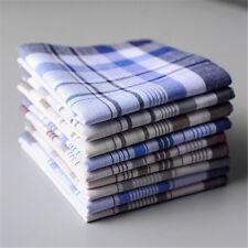 5/10/20pcs Cotton Plaid Men's Handkerchief Square Decorative Suits Grid Hanky