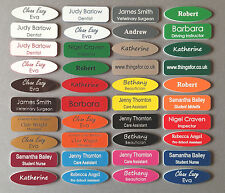 Name badges acrylic personalised engraved business id tags