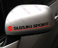 A Pair Amazing Rearview Mirror Car stickers Decals Graphics For Suzuki (Black)