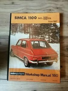 Intereurope Simca 1100 incl 1204 &1296 from 1967