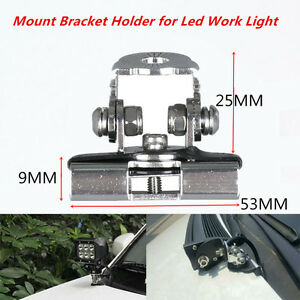 2 x Pillar Hood Led Work Light bar Mount Bracket Clamp Holder For Offroad SUV