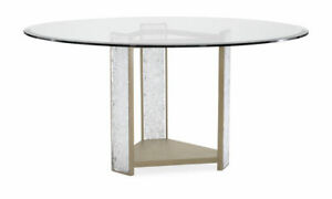 Modern Crushed Crystal Round Dining Table