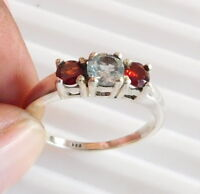2.80 Gm 925 Solid Sterling Silver Natural Multi Cut Stone Ring Size 9 i-2338