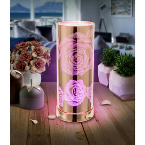Electric Colour Changing Rose Gold Roses Aroma Lamp Wax Melt Oil Burner Warmer
