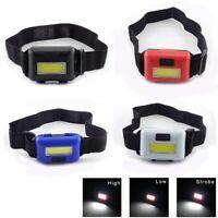 Mini COB LED Headlamp Headlight Waterproof Adjustable Camping  Lamps Light Torch
