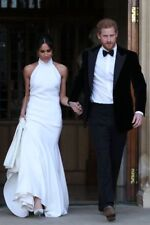 "HARRY & MEGHAN MARKLE ROYAL WEDDING RECEPTION DRESS FRIDGE MAGNET 5"" X 3.5"""