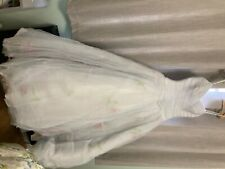 size 12 A line wedding dress pale blue