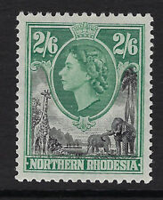 NORTHERN RHODESIA : 1953 QEII definitives 2/6d black and green  SG 71 mint